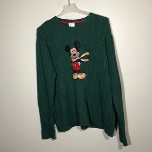 Men's Disney Ribbed Sweater with Mickey Mouse XXL